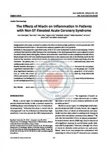 The Effects of Niacin on Inflammation in Patients with Non-ST Elevated Acute Coronary Syndrome
