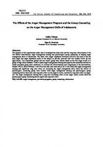 The Effects of the Anger Management Program and the Group Counseling on the Anger Management Skills of Adolescents