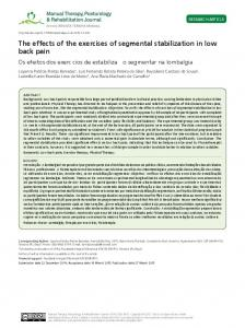 The effects of the exercises of segmental stabilization in low back pain