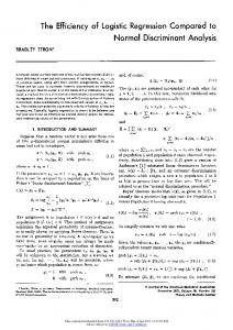 The Efficiency of Logistic Regression Compared to Normal Discriminant Analysis