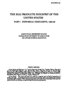 THE EGG PRODUCTS INDUSTRY OF THE UNITED STATES