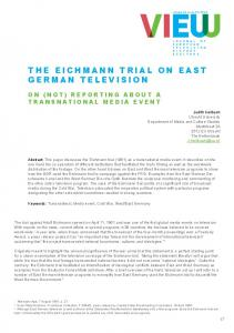 THE EICHMANN TRIAL ON EAST GERMAN TELEVISION