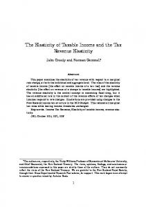 The Elasticity of Taxable Income and the Tax Revenue Elasticity