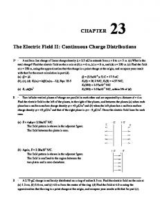 The Electric Field II: Continuous Charge Distributions