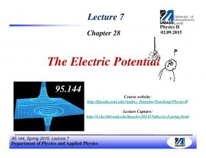 The Electric Potential
