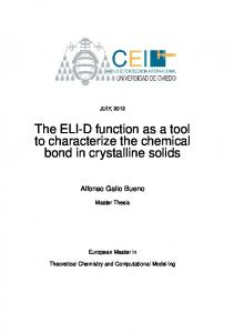 The ELI-D function as a tool to characterize the chemical bond in crystalline solids