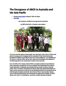 The Emergence of ABCD in Australia and the Asia Pacific