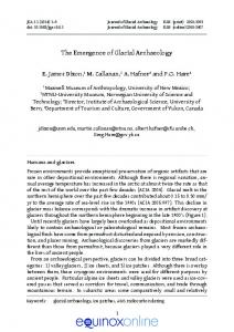 The Emergence of Glacial Archaeology