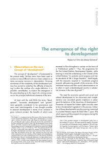 The emergence of the right to development