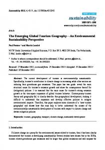 The Emerging Global Tourism Geography An Environmental Sustainability Perspective