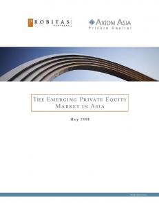 The Emerging Private Equity Market in Asia