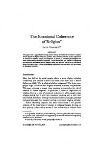 The Emotional Coherence of Religion
