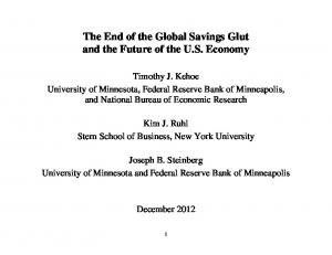 The End of the Global Savings Glut and the Future of the U.S. Economy