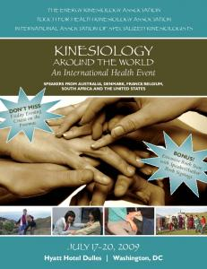 THE ENERGY KINESIOLOGY ASSOCIATION TOUCH FOR HEALTH KINESIOLOGY ASSOCIATION INTERNATIONAL ASSOCIATION OF SPECIALIZED KINESIOLOGISTS KINESIOLOGY