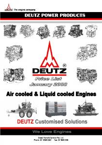 The engine company. Diesel Parts & Service Pty. Ltd. Phone: Fax: