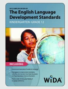 The English Language Development Standards