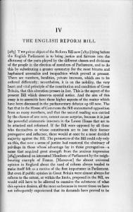 THE ENGLISH REFORM BILL