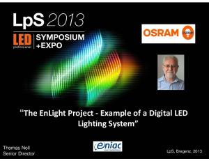 The EnLight Project Example of a Digital LED Lighting System