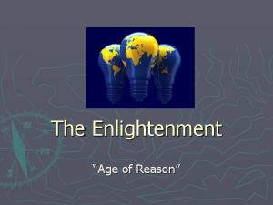 The Enlightenment. Age of Reason