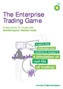 The Enterprise Trading Game