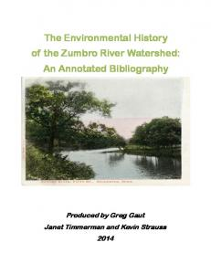 The Environmental History of the Zumbro River Watershed: An Annotated Bibliography