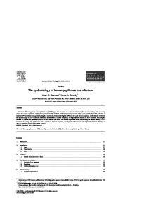 The epidemiology of human papillomavirus infections