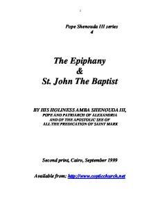 The Epiphany & St. John The Baptist