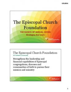 The Episcopal Church Foundation