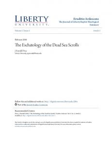 The Eschatology of the Dead Sea Scrolls