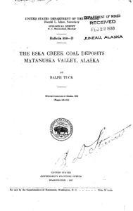 THE ESKA CREEK COAL DEPOSITS