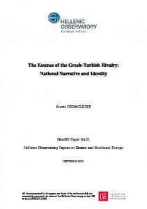 The Essence of the Greek-Turkish Rivalry: National Narrative and Identity