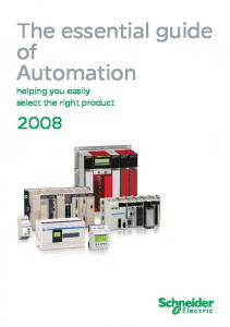 The essential guide of Automation. helping you easily select the right product