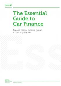 The Essential Guide to Car Finance
