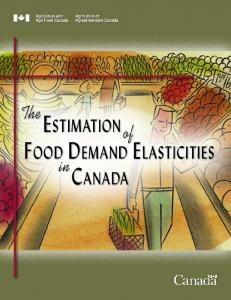 The Estimation of Food Demand Elasticities in Canada