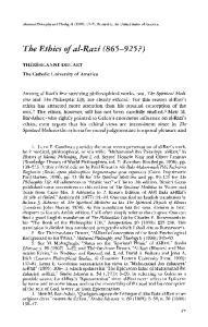 The Ethics of al-razi ( ?)