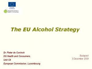 The EU Alcohol Strategy