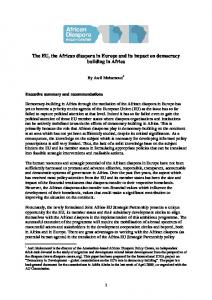 The EU, the African diaspora in Europe and its impact on democracy building in Africa