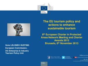 The EU tourism policy and actions to enhance sustainable tourism