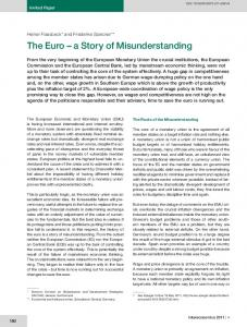 The Euro a Story of Misunderstanding