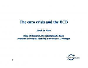 The euro crisis and the ECB