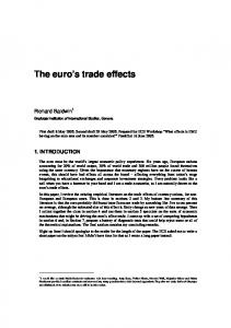 The euro s trade effects