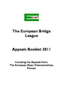 The European Bridge League