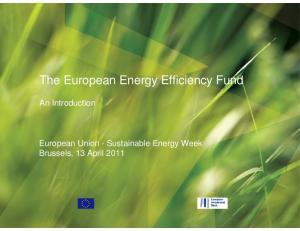 The European Energy Efficiency Fund