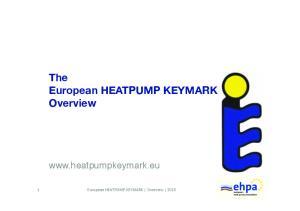 The European HEATPUMP KEYMARK Overview