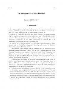 The European Law of Civil Procedure
