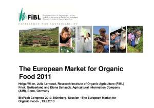 The European Market for Organic Food 2011