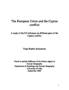 The European Union and the Cyprus conflict