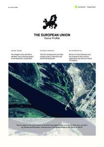THE EUROPEAN UNION Donor Profile