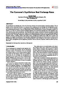 The Eurozone s Equilibrium Real Exchange Rates