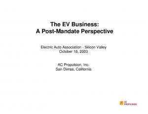 The EV Business: A Post-Mandate Perspective